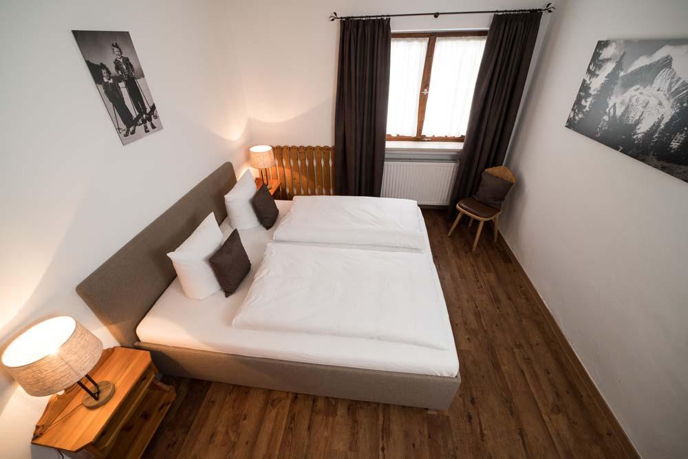 Schlafzimmer von oben der Wohnung Nr. 4 Reserl